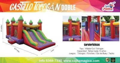 Castillo-Tobogan-Doble
